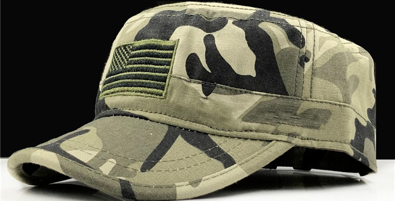 New Mens Airforce Military Five-Pointed Star Camouflage Cap