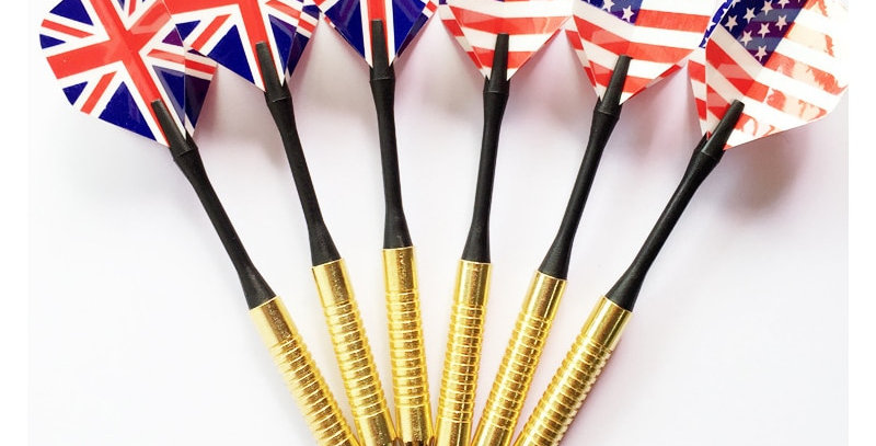 6pcs Professional Steel Tip Darts Set With Two Flag Pattern