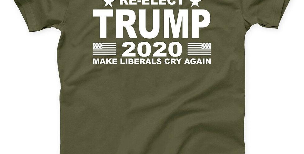 Donald Trump 2020 Make Liberals Cry Again T Shirt MAGA America Election Patriot