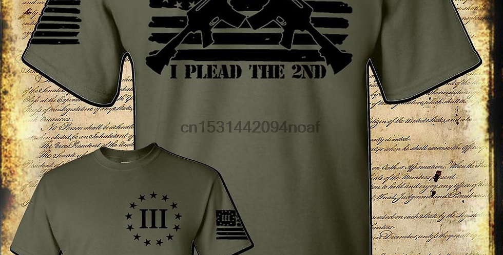 I Plead the 2nd Amendment Pro Gun T Shirt