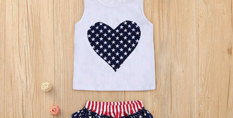 copy of 4th of July Love Star Girls Toddler Outfit Set