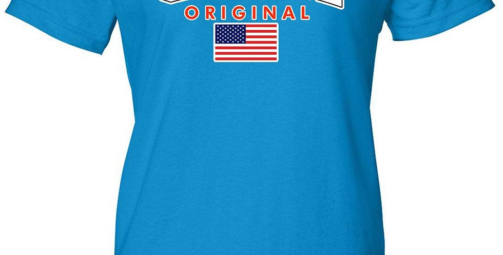 USA Flag T Shirt Women's Juniors Original American Pride