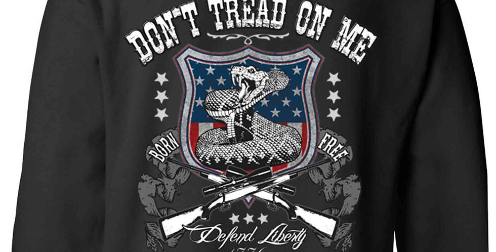 Unisex Pullover Hoodie USA Flag Don't Tread on Me Defend Liberty