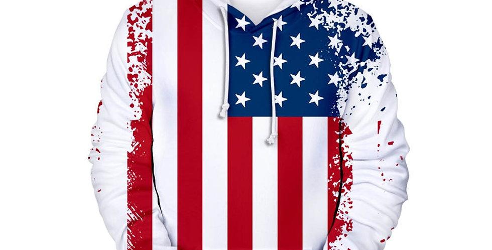 New USA Hoodies Men/Women Sweatshirt United States America Hoodie