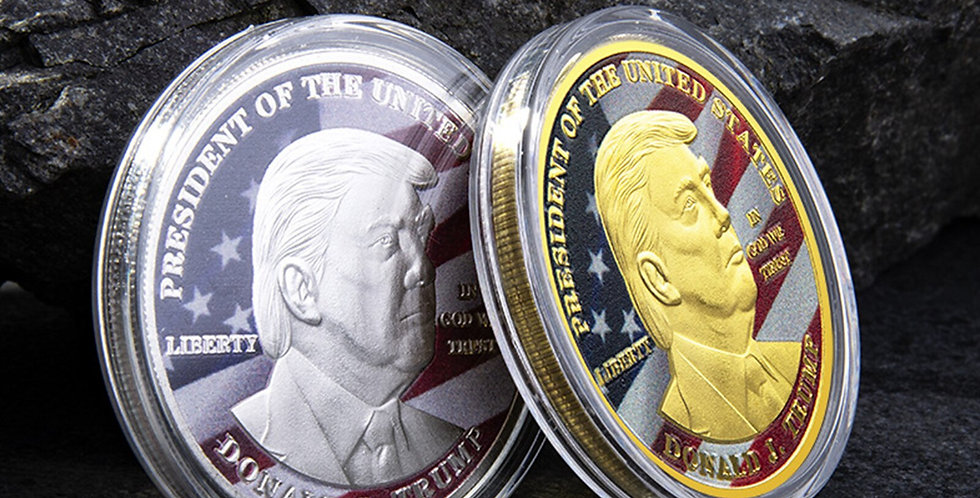 40MM Donald Trump 2020 Challenge Coin Liberty President Commemorative Coins
