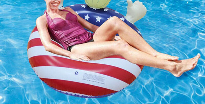 Donald Trump Pool Float Inflatable Swimming Ring for Summer Pool Party AN88