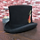 Thumbnail: Traditional President Party Hat Steampunk Magic Hat With Feather