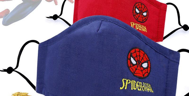 Children Cotton Washable Reusable Kids Face Mask Spiderman