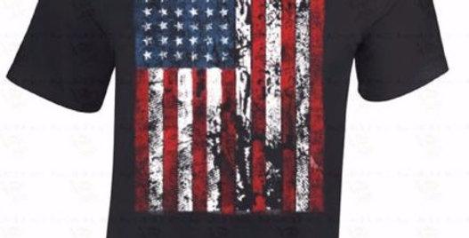 American Flag T Shirt Men Distressed Patriotic Tattered Vintage US