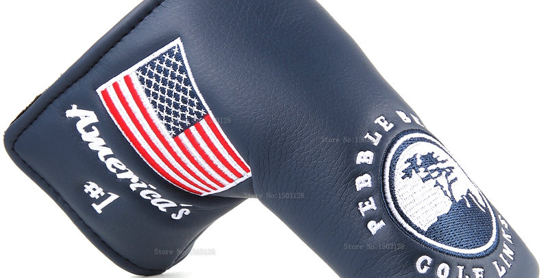New USA American No.1 Flag Golf Putter Cover for Blade Golf Putter Free Shipping