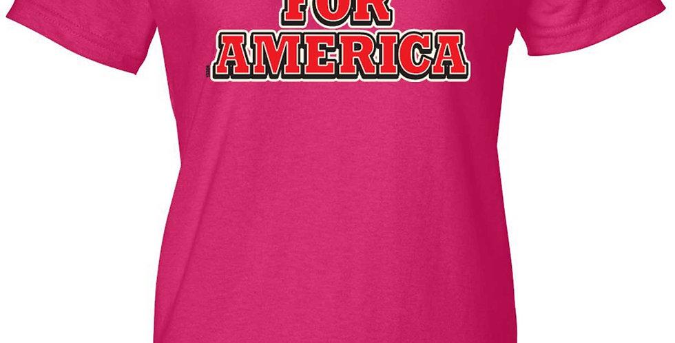 Women's Juniors T Shirt Trump for America Short Sleeve Tee
