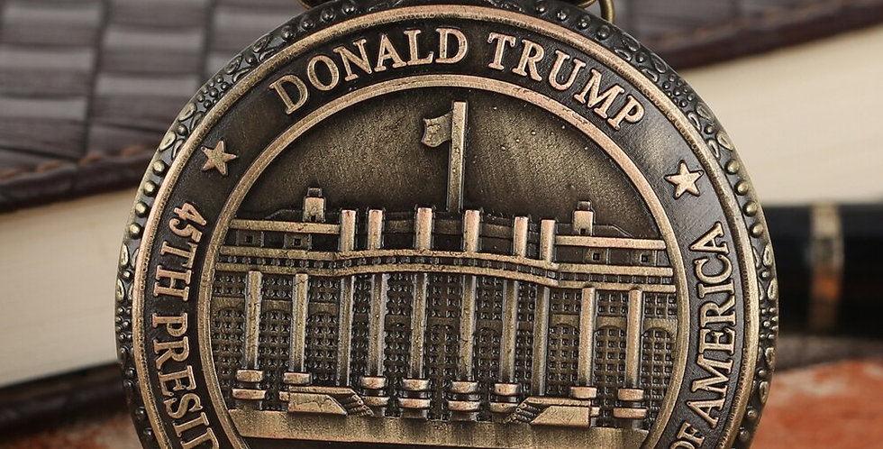 President Donald Trump Pocket Watch Seal of the President of the United States