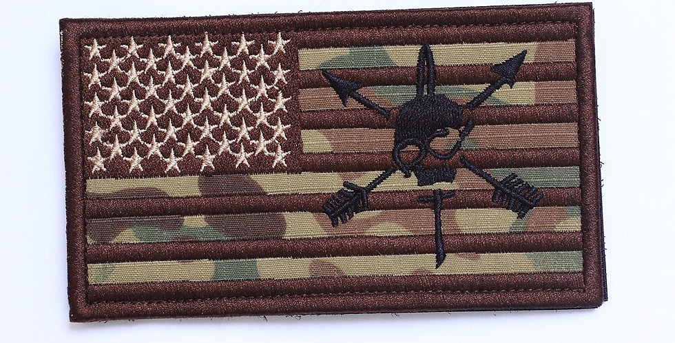 """Embroidery Patch Army Tactical Badge""""USA FLAG LARGE SIZE"""" Armlet"""