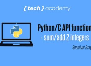 Python/C API functions - sum/add 2 integers
