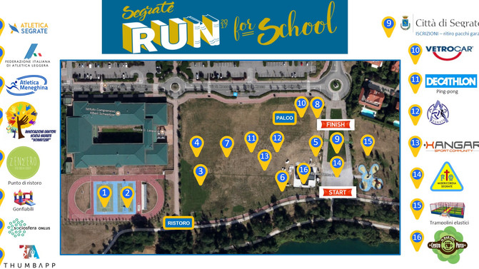 Segrate Run for School: il Villaggio Sportivo