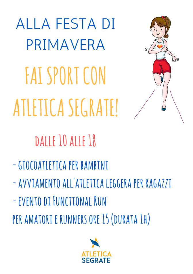 Festa di Primavera: fai sport con Atletica Segrate!