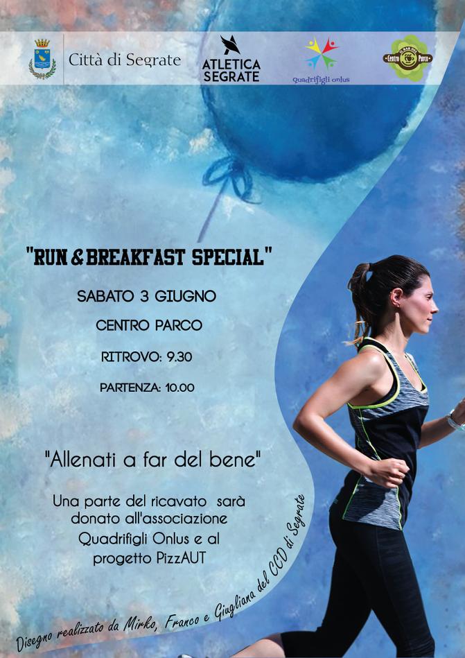 Allenati a far del bene: Sabato 3 Giugno Run&Breakfast Special!