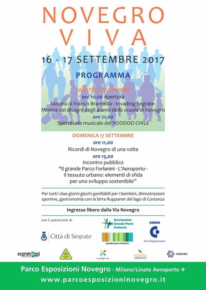 """Appuntamento nel weekend con """"NOVEGRO VIVA"""": 16/17 Settembre"""
