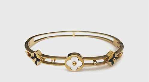 Clover detailed Gold plated bracelet