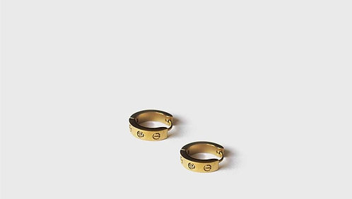 Cartier model Gold plated earrings