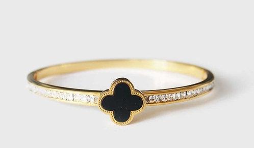 Black Clover detailed Gold plated bracelet
