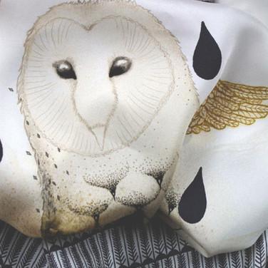 Winter owl close-up