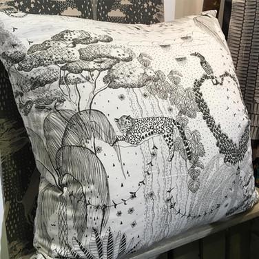 Rain Forest illustration for fabric
