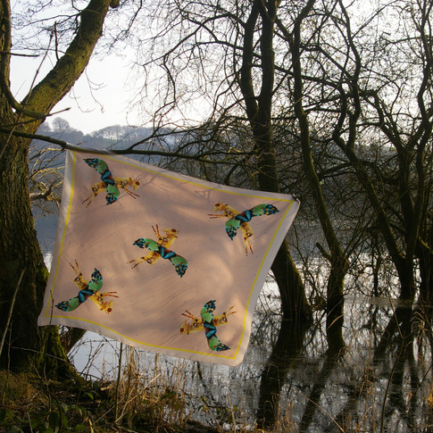 Horse- fly silk scarf.