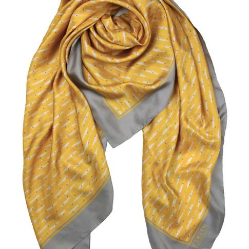 Clouds silk scarf