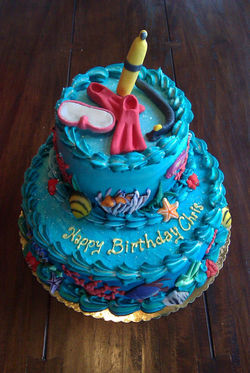 Scuba Cake