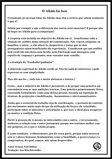 Aikido Lisboa, Dojo da luz, Franck Noël