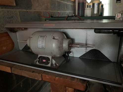 Polishing Cabinet with 1/2hp Procraft Motor (silver)