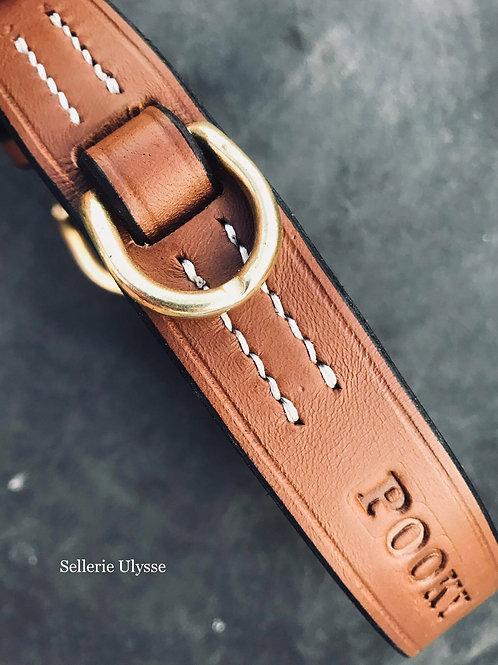 """Collier gamme """"Luxe"""" 25mm de large Boucles demies rondes en l"""