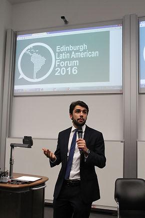 Gonzalo Botas, president of the Ediburgh Latin Amrican Forum 2016