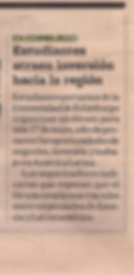Edinburgh Latin American Forum mentiond in newspaper - Diario Gestion10/05/2012