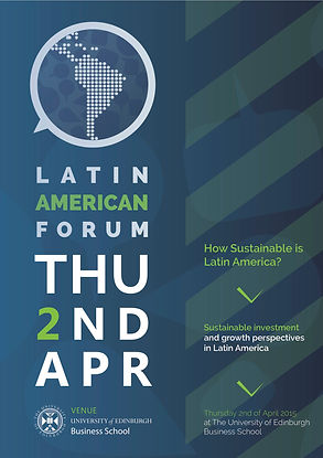Promotioal Flyerfor the 2015 Edinburgh Latin American Form
