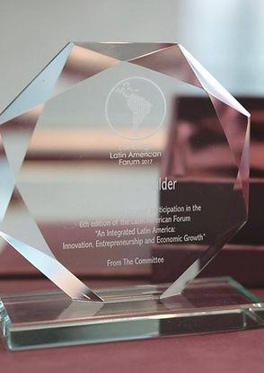 Speaker award at the 2017 Edinburgh Latin American Forum