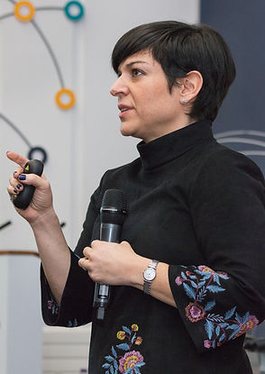 Monica Araya, Co-founder of Costa Rica Limpia, speaking at the 2018 Edinburgh Latin American Forum