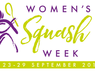 FIND YOUR NEAREST 'WOMEN'S SQUASH WEEK' EVENT; 23-29 SEPTEMBER!
