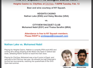 The NY Squash Pro League Is Here.