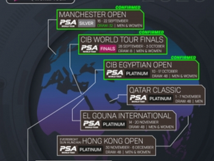 PSA CONFIRMS PSA WORLD TOUR SCHEDULE FOR SEPTEMBER AND OCTOBER