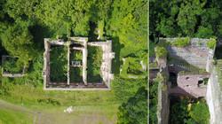 Aerial View of Ruinous House