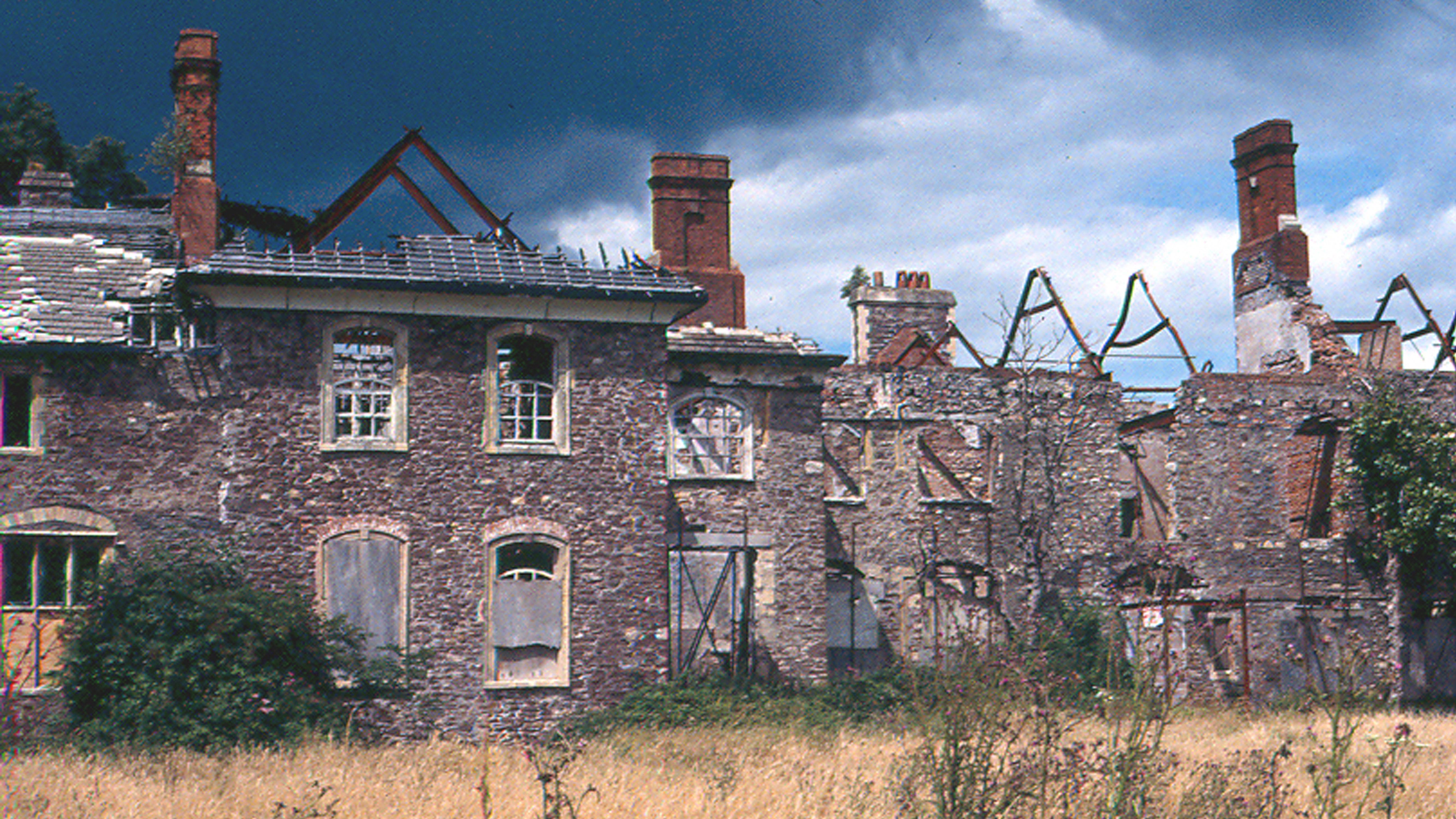 Burnt Building Before Restoration