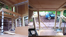 Cantilever and mezzanine frame