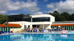 View over the Pool of the Lido Cafe