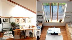 Studio and mezzanine interior