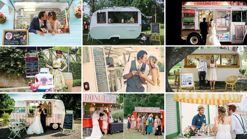Mini caravanas food truck para bodas