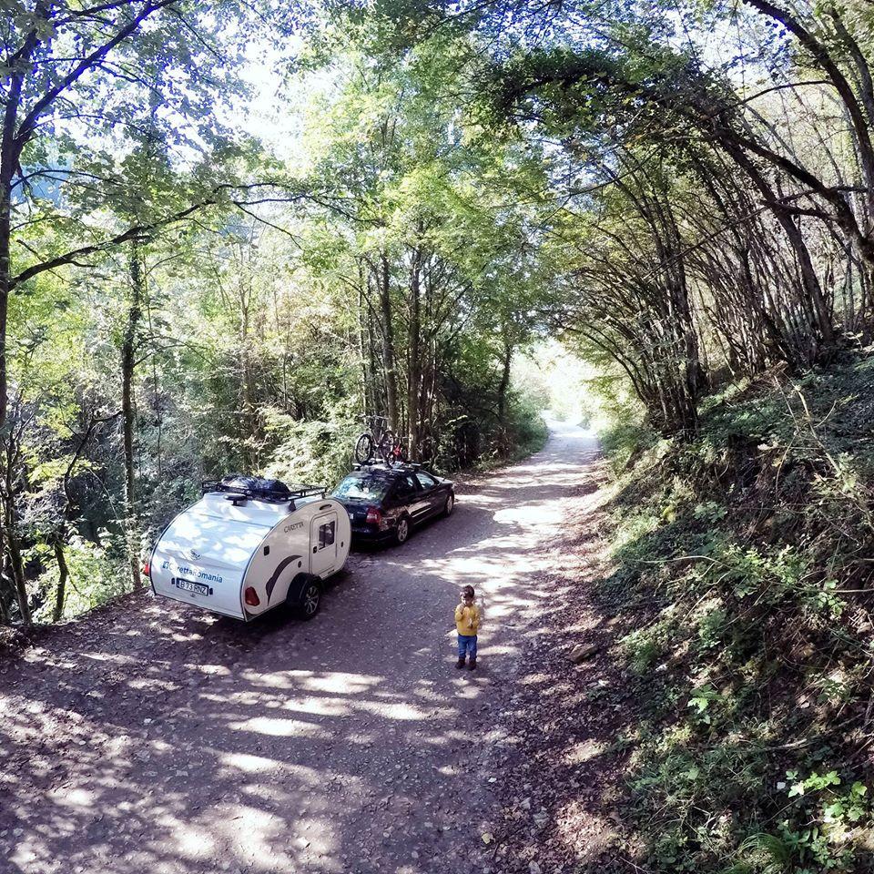 Mini Caravana en la naturaleza