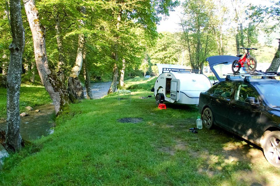 Salir al campo en mini caravana