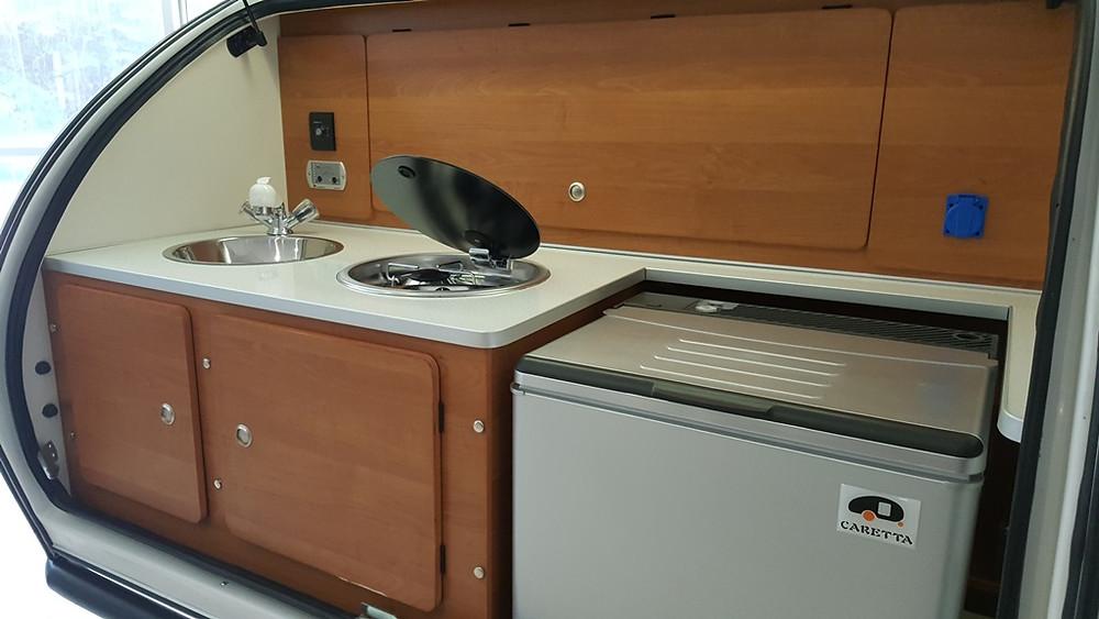 Mini Caravana Caretta 1500 Experience detalle cocina